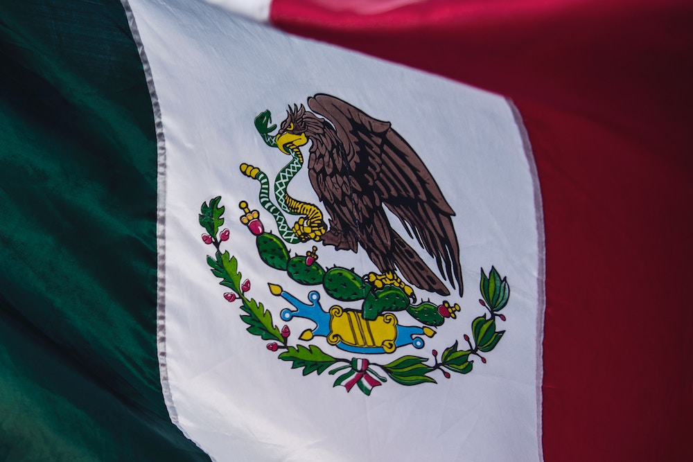 Mexikanische Flagge Leben in Mexiko